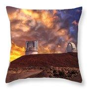 Sunset At Mauna Kea Summit Throw Pillow