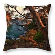Sunset At Mcway Falls Throw Pillow