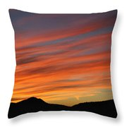 Sunset At Mt. Ord Throw Pillow