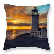Sunset At North Head Throw Pillow by Robert Bales