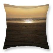 Sunset At Ocean Shores II Throw Pillow