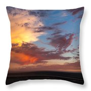 Sunset At Pacific City Throw Pillow