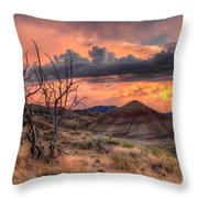 Sunset At Painted Hills In Oregon Throw Pillow