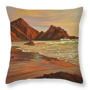Sunset At Pfeiffer Beach Throw Pillow