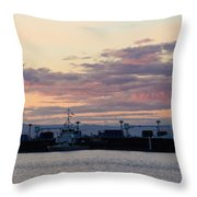 Sunset At Port Angeles Throw Pillow