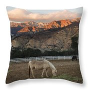 Sunset At Rancho Oso Throw Pillow