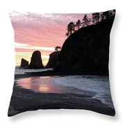Sunset At Rialto Beach 1 Throw Pillow
