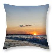 Sunset At Riva Throw Pillow