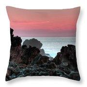 Sunset At Salt Point Throw Pillow