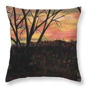 Sunset At Spring City Tenn Throw Pillow