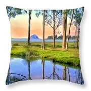 Sunset At Sweet Springs Throw Pillow