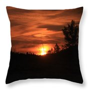 Sunset At The Beach Throw Pillow