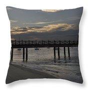 Sunset At The Beach Throw Pillow