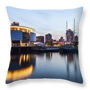 Sunset At The Dock Throw Pillow