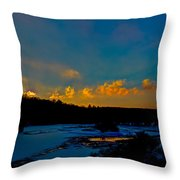 Sunset At The Green Bridge Throw Pillow