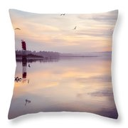 Sunset At The Hollering Place Throw Pillow