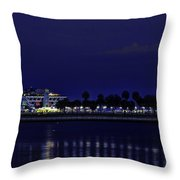 Sunset At The Iconic St. Petersburg Pier Throw Pillow