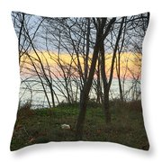 Sunset At The Island Throw Pillow