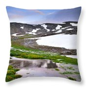 Sunset At The Lake At 3000 M. Hight Throw Pillow