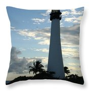 Sunset At The Lighthouse  Throw Pillow