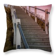 Sunset At The Lighthouse Throw Pillow