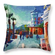 Sunset At The Market Common Throw Pillow
