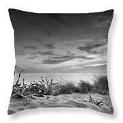 Sunset At The Mediterranean Sea Throw Pillow