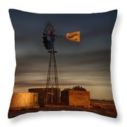 Sunset At The Well Throw Pillow