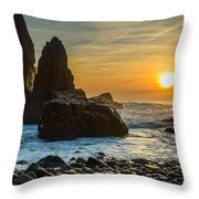 Sunset At The World's End II Throw Pillow