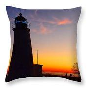 Turkey Point At Sunset Throw Pillow
