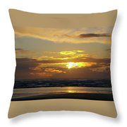 Sunset At Westport  Throw Pillow