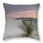 Sunset At White Sands Throw Pillow