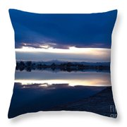 Sunset At Windsor Lake Throw Pillow by Dana Kern