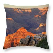 Sunset At Yaki Point Throw Pillow