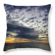 Sunset Beach Hawaii Throw Pillow