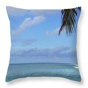 Sunset Beach Oahu Hawaii Throw Pillow