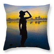 Sunset Beauty Throw Pillow