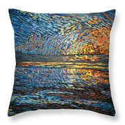 Sunset Before The Storm Throw Pillow