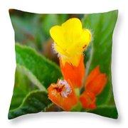 Sunset Bells Flower Throw Pillow