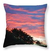 Sunset Bicolor Throw Pillow