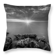Sunset Bliss Bw Throw Pillow