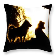 Sunset Buddies Throw Pillow