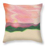 Sunset By Jrr Throw Pillow
