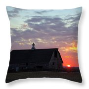 Sunset By The Barn 2 Throw Pillow
