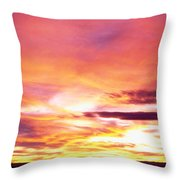 Sunset, Canyon De Chelly, Arizona, Usa Throw Pillow