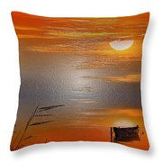 Sunset Charm, 30 Landscape Wall Art Painting Pack  Sunset-sunrise, Evening, Sea, Water, Ocean Etc  Throw Pillow