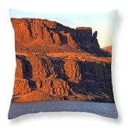 Sunset Cliffs At Horsethief  Throw Pillow by Talya Johnson