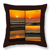 Sunset Collage Throw Pillow
