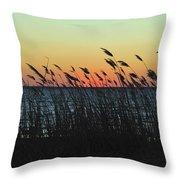 Sunset Colors Island Beach State Park Nj Throw Pillow