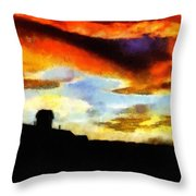 Sunset Colours Throw Pillow
